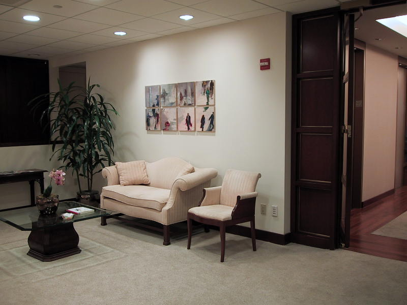 corporate picture installation waiting area