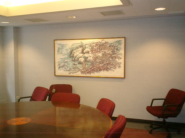 corporate picture installation conference room